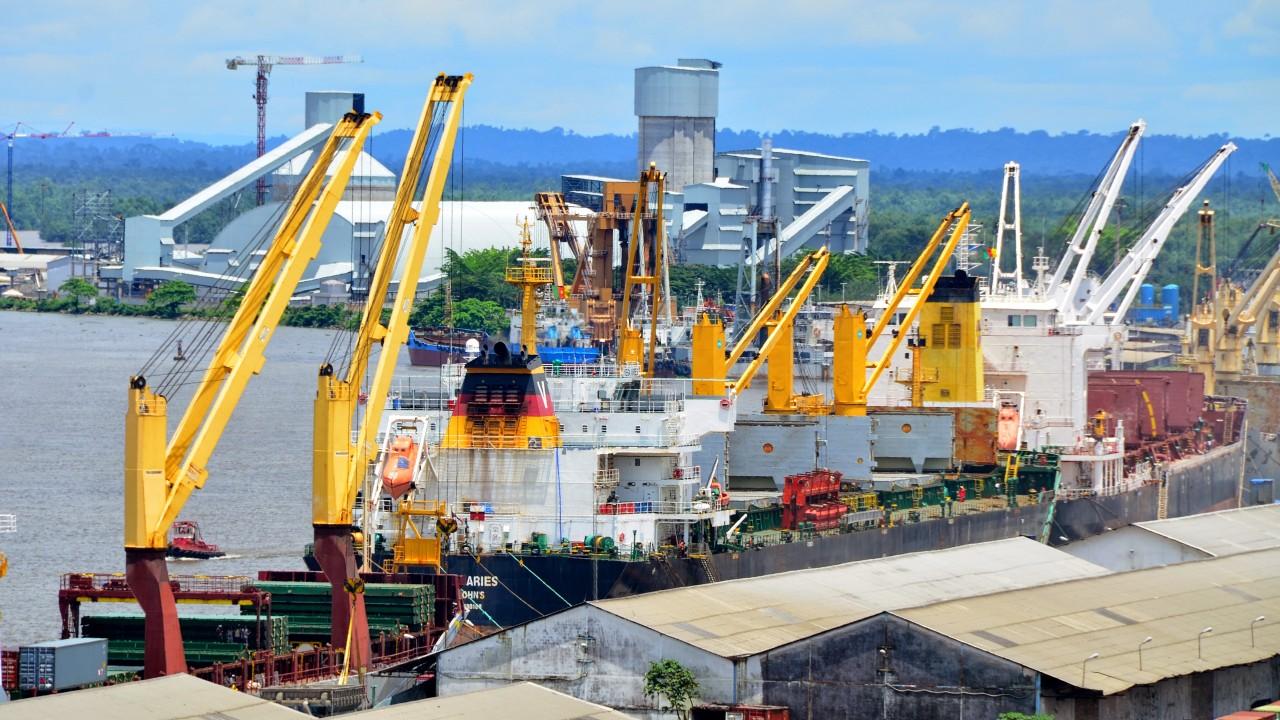 Douala port, Cameroon