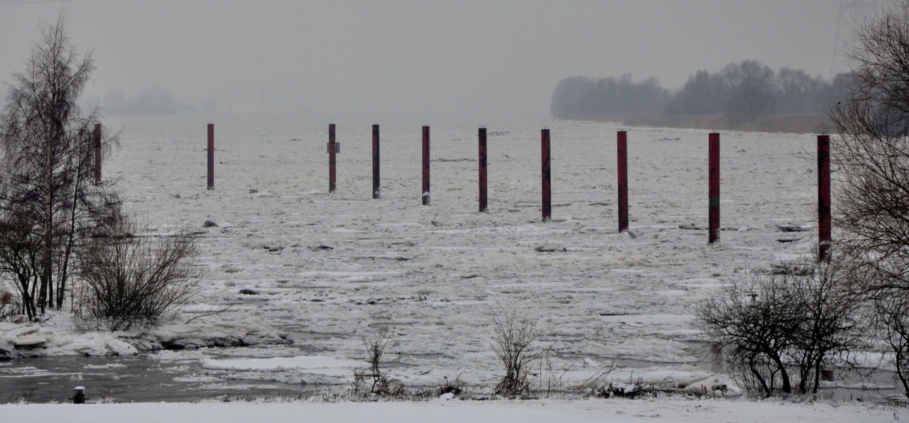 On the Elbe in winter