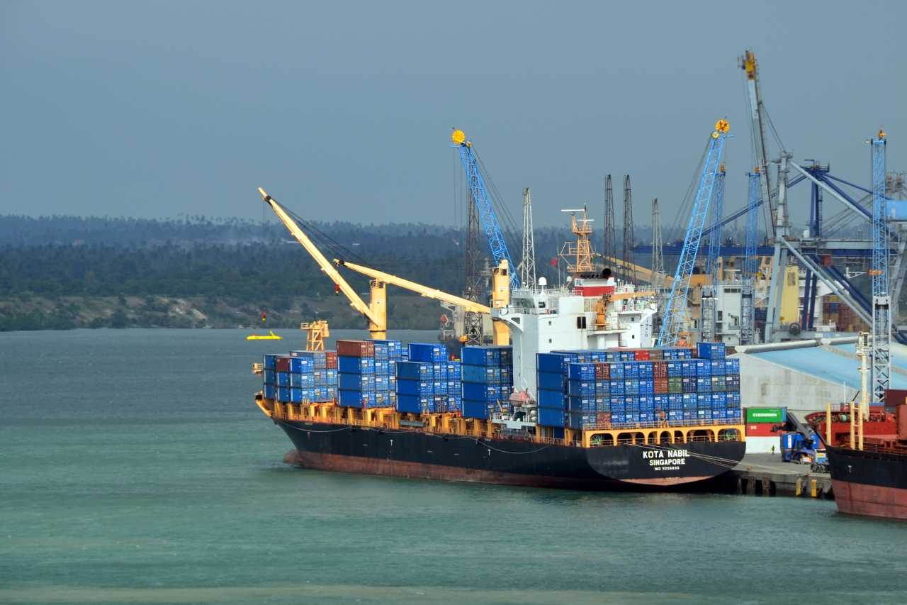 The port of Dar es Salaam