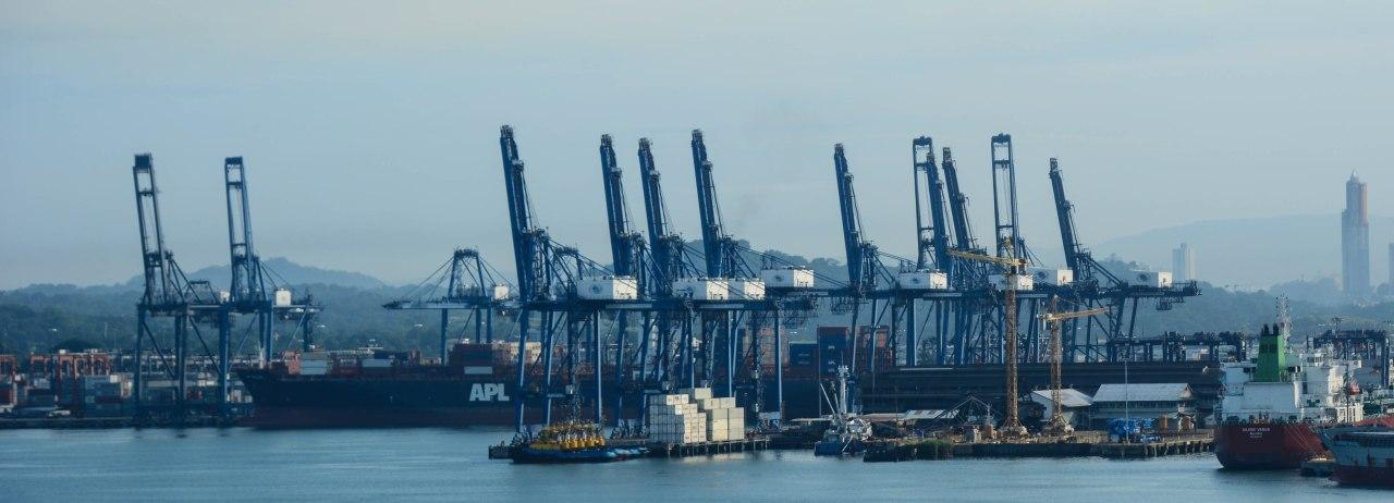 The Panama Canal and ports,Balboa