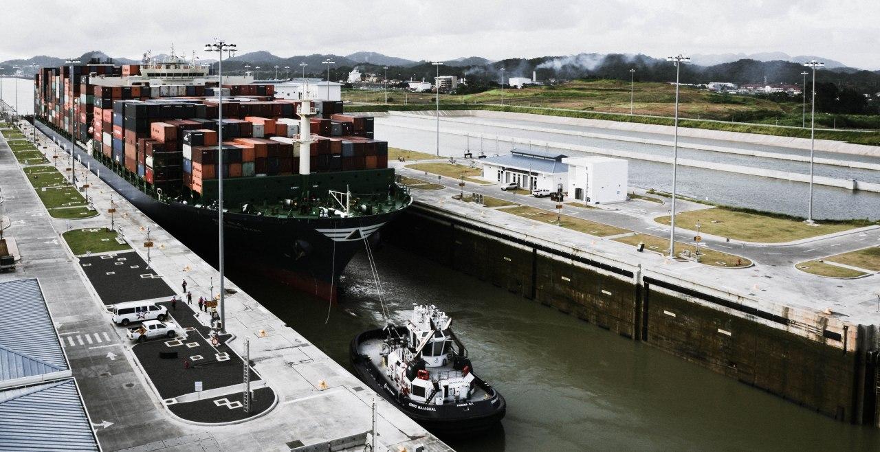 The new Panama Canal locks,Cocoli