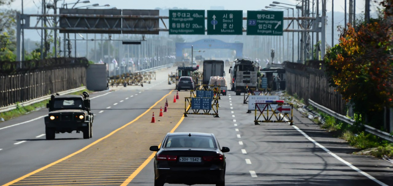 In Korea, at the border between North andSouth